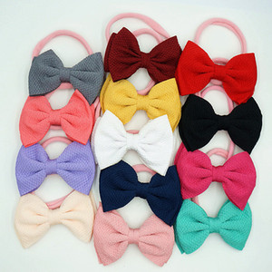 13 colors nylon Hairbands Baby girls Bow-knot Headband Boutique tie a knot Hair band fashion kids Hair accessories Z2406