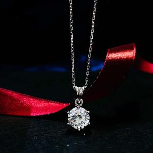 HBP Moda Luxo Jóias Nova Colar Cruz Cruz 40 + 5cm Simples Coração Redondo 16 arrow Diamante S925 Sterling Silver Pingente