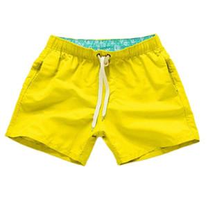 Kancoold Shorts 남자 순수한 컬러 스플 라이스 스트라이프 해변 캐주얼 반바지 섹시한 나일론 통기성 Bandeau 복서 수영 트렁크 2021APR2