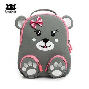 Kokomilo Kindergarten Kinder Tier Rucksäcke Wasserdichte Schultasche Satchel Jungen Mädchen Kinder Cartoon Katze Bär Schultaschen