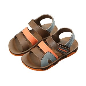 Kids Summer Shoes Children Sandals for Boys Casual Student Flat Beach Shoes Kids Outdoor Soft Non-slip Leather Sandals B0002 210312