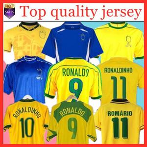 1998 Home Fussball Jerseys 2002 Retro Zico-Shirts Carlos Romario Ronaldo Ronaldinho 2004 Camisa de Futebol 1994 Bebeto 2006 Brasilien Kaka 1982