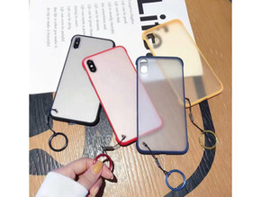 New For iPhone 6 6s 7 8 Plus x XR XS Max 11 12 pro mini frosted Phone Case Luxury Frameless Ring Design Scrub Hard PC Back Cover