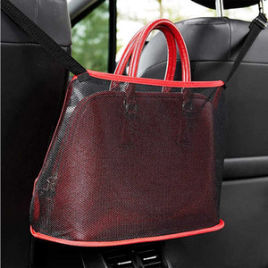 Car Net Pocket Handbag Holder Between Seats Car Organizers and Storage Front Seat Mesh Large Capacity Bag for Purse Phone Documents Pocket