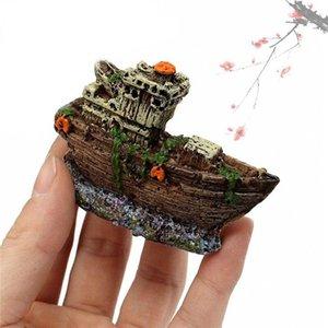 Reçine Korsan Tekne Dekor Için Akvaryum Peyzaj Balık Tankı Süs Balığı Dekorasyon Boat Pandzası Dekorları