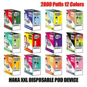 ORIGINAL HAKA XXL KIT DE DISPOSITIVO DE VECTOR DESECHABLE XXL 1700MAH BATERÍA 2800 Puffs Preparada 10.6ML Cartucho Vape Pen Authentic VS Plus Bar