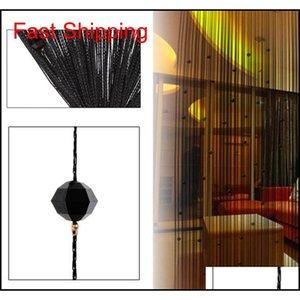 25tassel Curtain Crystal Beads Tassel Silk String Curtain Window Valance Door Divider Sheer jlllqE allguy