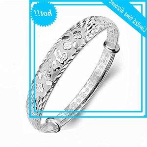 Nova flor auspiciosa palavra afortunada estilo nacional fushou pulseira de prata jóias de alta qualidade para as mulheres
