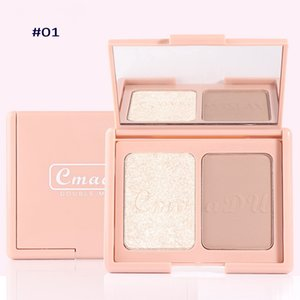 Cmaadu Double Modify Makeup Blush Smooth Texture Highlighter Powder Easy to Wear Brighten Contour Cheek Blush Coloris Beauty Blush Palette