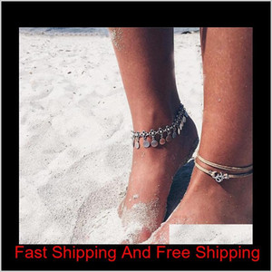 20 Styles Summer Beach Turtle Shaped Charm Rope String Anklets For Women Ankle Bracelet Woman Sandals On The Leg C qylXxh luckyhat