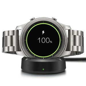 Wireless Charging Dock Cradle Charger For Samsung Gear S3 Classic S2 Watch With 1m USB Cable Retail Package 5 Colors
