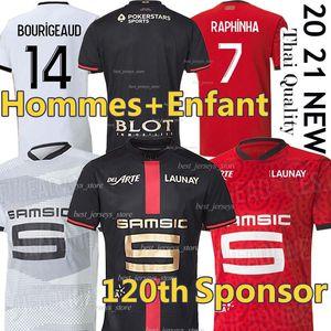Stade Rennais Soccer Jerseys Rennes 120th Anniversary Mailleot De Foot 2020 2021 Camavinga Bourigeaud Niang Doku Hunou Men + Kids Kits Football