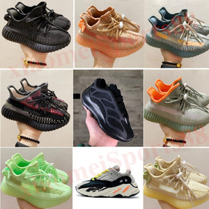 새로운 아이 신발 아기 700 v2 러닝 신발 정적 반사 소년 소녀 Kanye West 700 V3 스니커즈 클레이 유아 트레이너 어린이 운동화