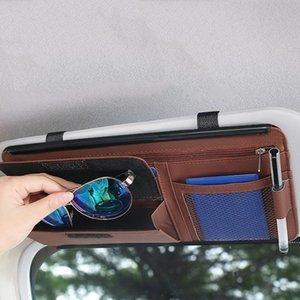 Auto Visor Armazenamento Saco Auto Óculos de Sol Glip Suns Sunvisor Cartão Sacos Óculos Bill Pen Title Stroing Organizador de Carro