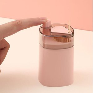 Automatic Toothpick Holder Container Creative Plastic Household Table Toothpick Storage Box Portable Toothpick Bucket Dispenser LLA8733