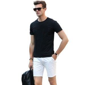 Mens T shirt fashion casual T shirt mens black T shirt jacket short sleeve womens casual street wear ---Q006