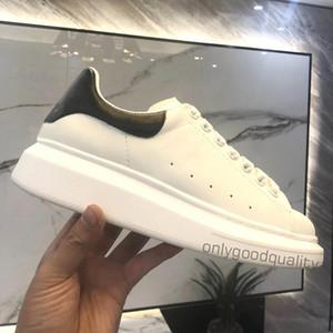 2021 zapatos de moda para hombre zapatos casuales de cuero blanco para mujer mujeres negro azul rojo moda cómoda deporte plano zapatilla de deporte 35-45