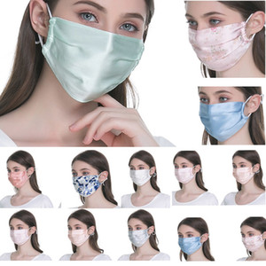 Face Sunscreen Fashion Mask Silk Female and Male Breathable Summer Thin Section Can be Cleaned And Easy to breathe Dust Mask HH9-3182