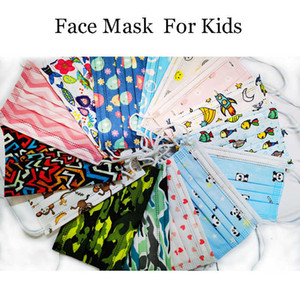 mask Kids Disposable Face Mask Fashipn Cartoon children with Elastic Ear Loop 3 Ply Breathable for Dust Air Anti-Pollution Masks desinger