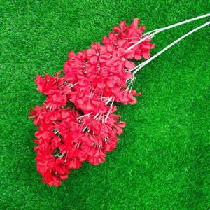 Simulação Plum Cherry Blossoms Artificial Silk Flowers Sakura Árvore Ramos de Tabela Casa Sala de estar Decoração de Casamento GWF4979