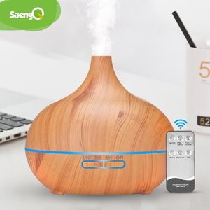 Diffusore dell'aroma elettrico di Saengq umidificatore dell'aria dell'aria essenziale del diffusore di olio essenziale 400ml telecomando ad ultrasuoni Cool nems fanger lampada a LED