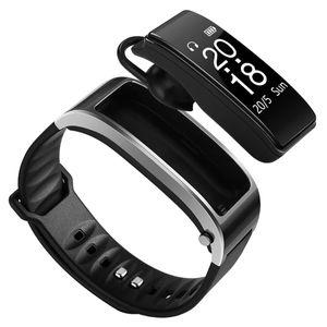 For iphone samsung smartphones y3 smart watch Bracelet 2 in 1 bluetooth headphones headset Heart Rate Monitor