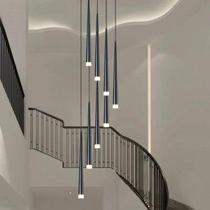 LED Long Downlight Подвесные светильники индивидуальные творческие средства современной столовой люстры люстры лестница для кухни кухонные люстры люстра люстры