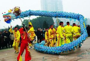 Chinois Dragon Dance Taille 4 # 10M Soie adulte 6 joueurs Festival de mariage Scène de mariage Costume de mascotte extérieure Culture spéciale Pêtière