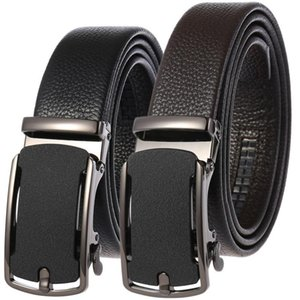 Sell like hot cakes Fashion Automatic Buckle Black Genuine Leather Belts for Men 3.5c luxury quality designer belt mens