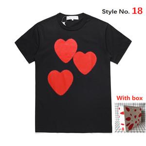 Camiseta para hombres Mujeres de manga corta Tops de alta calidad Tshirt Carta de moda Impresión de estilo Hip Hop Ropa con caja de etiqueta