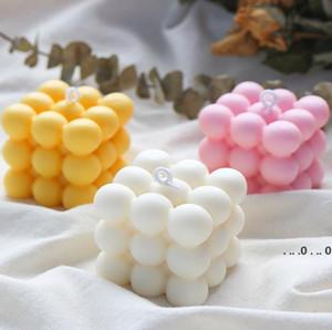 FAI DA TE Candele Stampo Soy Cera Candele Stampo Aromaterapia Intonaco Candela 3D Stampo in silicone Fatto a mano Candole a base di soia Aroma Stampi sapone per sapone EWF5362