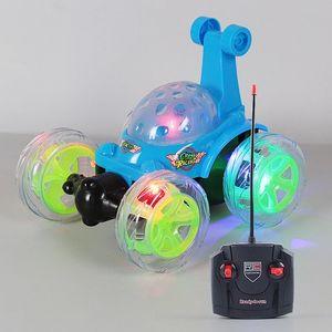 Luminous Light Up RC Car Stunt Drift Deformation Buggy Rock Crawler Roll Car 360 Degree Flip Kids Robot Led RC Cars Toys music