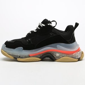 17FW DSM Raf Simons Dad Shoes Red Bottoms Boys Luxurys Designers Chaussures Hommes Sneakers Mens Shoes Women Boys Girls 36-45