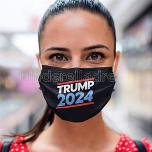 Trump 2024 Maschera riutilizzabile Lavabile Maschera non tessuta Tessuto non tessuto antipolvere A prova di foschia Breaspable Masks New Party Favor