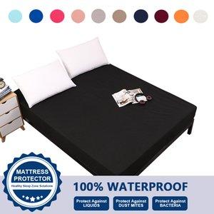 Yatak Gömme Sac Su Geçirmez Makinesi Yıkanabilir 100% Polyester Klasik Katı Renk ABD Standart Kral Kraliçe Tam Twin VT2417