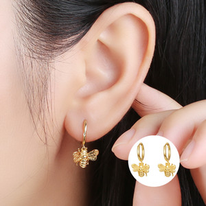 925 Boucles D'oreilles Women Oro Silver Earings Sterling Designers Earrings Des Cool Earrings Christmas Wind De Aretes Bee Xsbmi