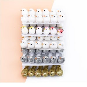 12pcs Fake Foam Multicolor Bird Brif Frigorifero Adesivo Ghirlanda di Natale Decorazioni per la festa di nozze festa per bambini Giocattoli per bambini Artificia Qylkjz
