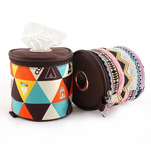 Tissue Boxes & Napkins Round Toilet Paper Storage Holder Roll Case Home Outdoor Camping Tent Cover Hanging Hanger Bags Bathroom #R40