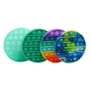 Colorful Decompression Toys Sensory Push Pop Bubble Sensory Toy Autism Anxiety Stress Reliever for Students Office Workers CCA3833