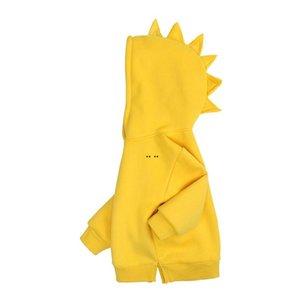 Niños dinosaurios suéter suéter caramelo color ropa primavera 2021 infantil sin miedo top edición coreana niños desgaste DHC6418