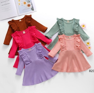 Girls Dresses Toddler Sweater Dress Baby Cotton Princess Dresses Infant Long-Sleeved Dress Newborn Boutique Clothing EWB5040