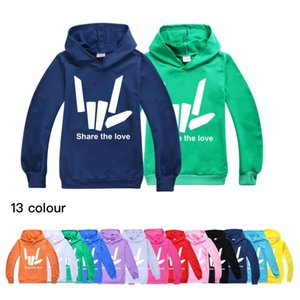 Hot listing share the love Cartoon Children's Hoddies Hip-hop Tops Grinch Clothes Cool Teenage Kids Hoodie Long Sleeve T Shirt J0220