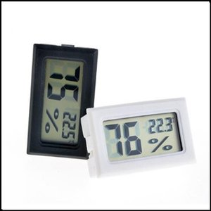 FY-11 Mini Digital LCD Environment Thermometer Hygrometer Humidity Temperature Meter In room refrigerator icebox black white DHL free