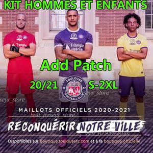 2020 21 Toulouse FC Maillot de oep Home your Yellow Футбол Детки Rhys Healey Anriste Deyaegere Amian Mareira Мужчины Kit Kids Футбольные рубашки