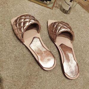 Designer fashion women's leather slippers sandals custom logo flat bottom comfortable luxury 35-41 multi color options