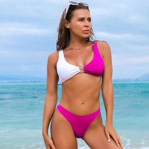 Sexy Tube Top Bikini 2021 Micro Swimwear Women Plus Size Swimsuit Solid High Waist Bikini Set Beachwear Bathing Suit Biquini XL