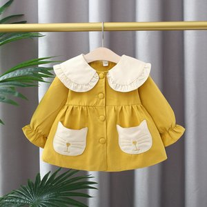 New 2021 Spring Newborn Girl Jacket Child Girls Baby Birthday Clothes Outerwear Coats 2ogi
