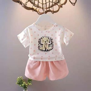 baby girl clothes suits T-shirts and fashion shorts middle and little kids summer clothing