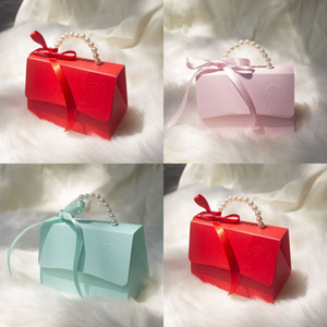 Solid Color Candy Box With Ribbon Red Portable Small Paper Boxes Originality Marry Supplies European Style 1 69kc J2