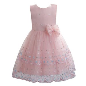 Baby Girl Dress 1st Birthday Dress For Baby Girl Princess Dresses Toddler Pageant Dresses 0-4Y Infant Clothes Embroidered B4034